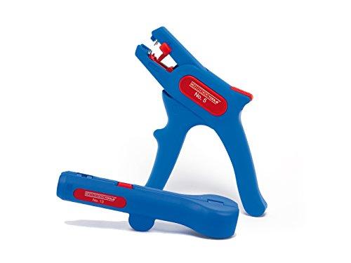 WEICON 52881004 Elektroinstallations-Set 4-Abisolierzange No. 5 und Rundkabel-Stripper, Blau/rot