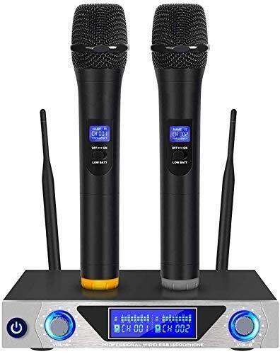 Ordinateur de Poche Micro, Microphone sans Fil, Microphone sans Fil KTV Un Microphone for Deux Microphone Set, la Musique, Le Son