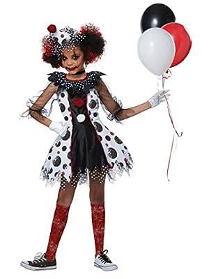 California Costumes Creepy Clown Girl Child-