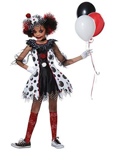 California Costumes Girls Creepy Clown Girl Child Costume