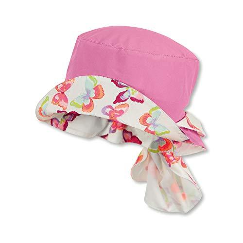 Sterntaler Baby Mädchen Hut mit UV Schutz 50 mit regulierbarem Nackenschutz, Größe:45, Farbe:Orchidee (779)