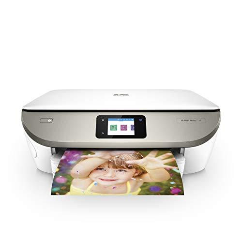 HP Envy Photo 7134, Stampante Fotografica Multifunzione a Getto di Inchiostro, Stampa, Scannerizza, Fotocopia, Wi-Fi Direct, 5 Mesi di Servizio Instant Ink Inclusi, Bianco