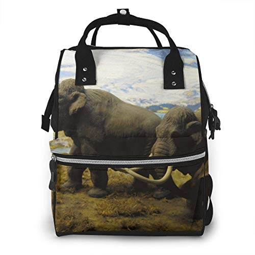 JUKIL Sac à dos à couches North American Mammals Mammoths Diaper Bag Backpack Multifunction Travel Back Pack Maternity Baby Nappy Changing Bags