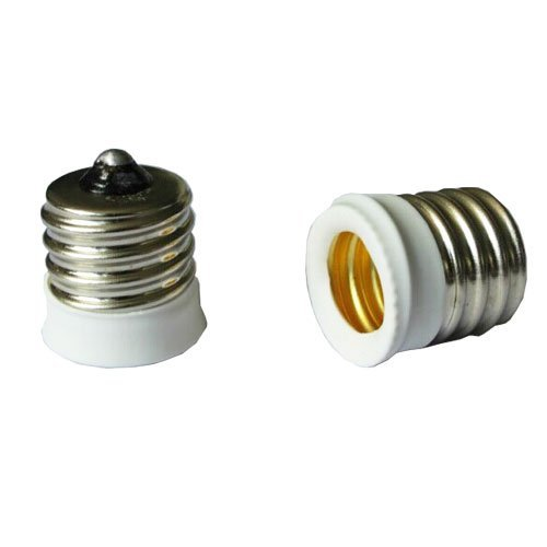 SmartDealsPro 6-Pack White Intermediate E17 Base to Candle Candelabra E12 Base Light Fixture Bulb Socket Adapter Reducer