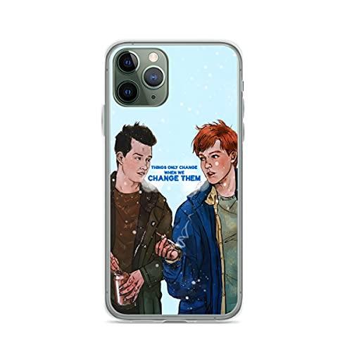 Cerlingwee Pure Clear Cases Compatibile con iPhone 12/12 PRO Max 12 Mini 11 PRO Max SE X/XS Max 6 6s Plus Samsung S21 Ultra Protezione Cover Shameless