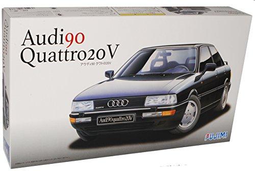Fujimi A-U-D-I 80 B3 90 Quattro 20V Limousine Schwarz 1987-1991 Kit Bausatz 1/24 Modell Auto mit individiuellem Wunschkennzeichen