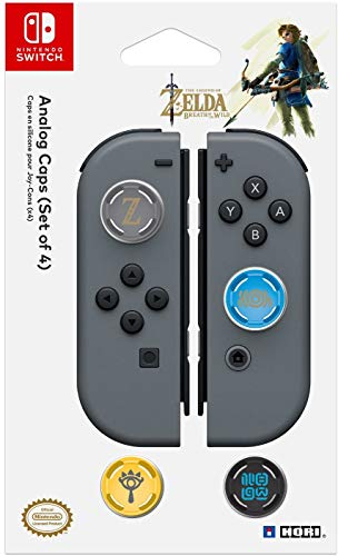 HORI Nintendo Switch Analog Caps (Legend of Zelda Edition) Set of Four Officially Licensed By Nintendo - Nintendo Switch