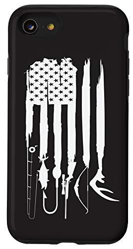 iPhone SE (2020) / 7 / 8 hunting fishing flag, fishing, hunting, hunting and fishing Case