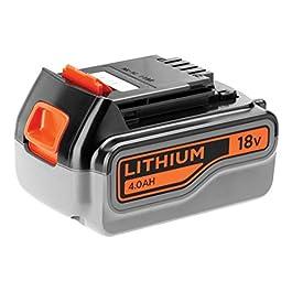 BLACK+DECKER Batterie Lithium 18V 4 Ah, Compatible avec Tous Les Outils 18V BLACK+DECKER, Sans Effet Mémoire, Faible…