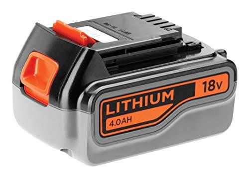 BLACK+DECKER Batterie Lithium 18V 4 Ah, Compatible avec Tous Les Outils 18V BLACK+DECKER, Sans Effet Mémoire, Faible Autodécharge, Pratique, Compacte et Polyvalente, BL4018-XJ