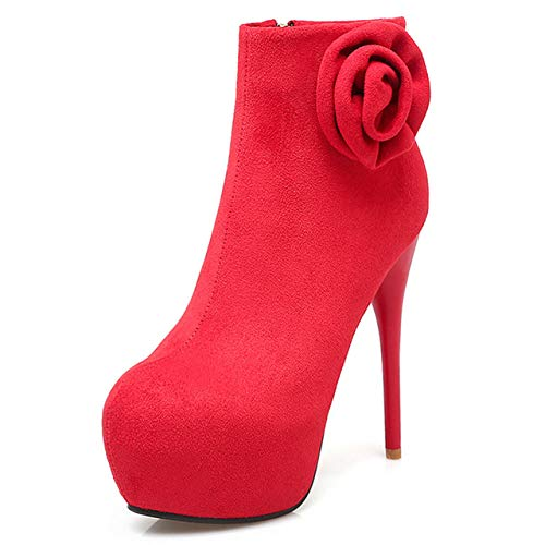 SHZSMHD zwarte vrouwen rode bruiloftsschoenen rits laarzen hak laarzen schoenen dames laarzen Colorsize 31-46 Stiletto pump schoen