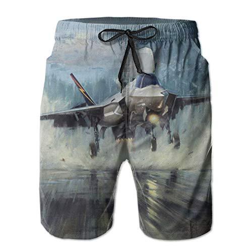 Harley Burton - Pantaloncini da bagno da uomo, con coulisse regolabile bianco L