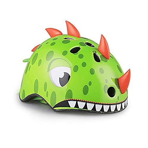 YChoice365 Casco para Niños de Dibujos Animados Lindo Animal 3D Dinosaurio Casco...