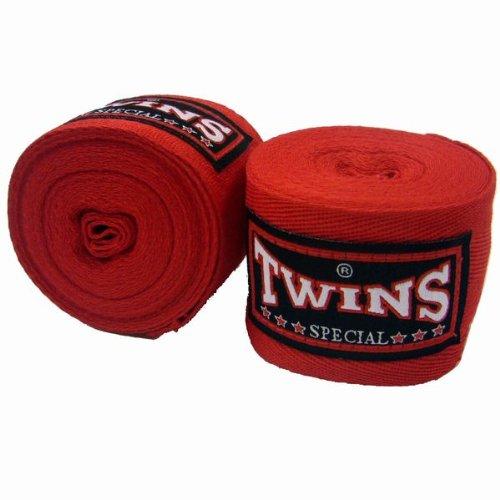 Twins Bandagen, blau, unelastisch, 5 m, handwraps, Wickelbandagen, Muay Thai