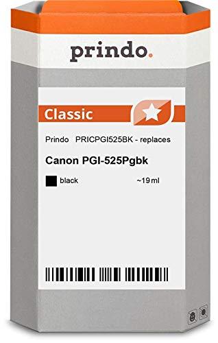 Prindo Canon PGI-525BK (4529B001) Schwarz Tintenpatrone - Alternative Druckerpatronen - Druckerzubehör geeignet für Verschiedene Canon Drucker