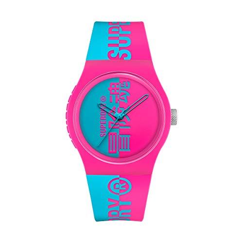 Superdry Reloj Analógico para Hombre de Cuarzo con Correa en Silicona SYG346AUP