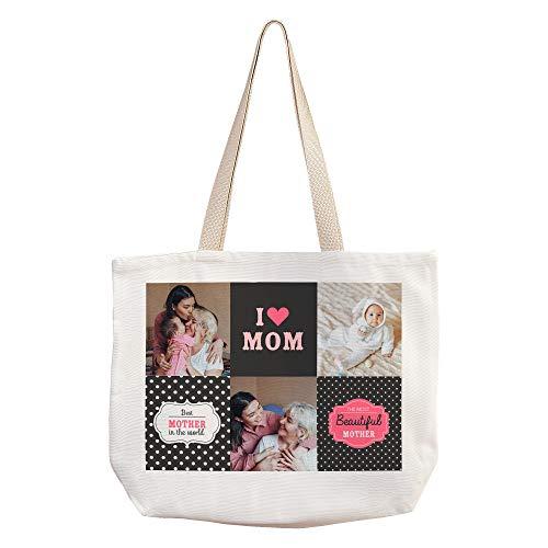 LolaPix Bolso Foto Mama Personalizado. Regalos Dia de la Madre Personalizados. Varios diseños.For Mom