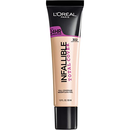 L'Oreal Paris Infallible Total Cover Foundation, Creamy Natural, 1 fl; oz.