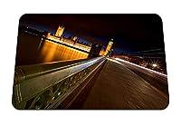22cmx18cm マウスパッド (ロンドンナイトブリッジ川ビッグベン) パターンカスタムの マウスパッド