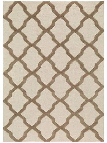 benuta Wollteppich Windsor Beige 120x170 cm | Naturfaserteppich für Wohnzimmer und Schlafzimmer
