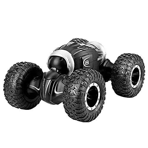 SZHANG 4WD Coche De Control Remoto Todoterreno De Alta Velocidad Doble Cara Conducción Truco Voltear Y Girar Camión RC Todo Terreno Escalada Juguete Deformación Coche RC Niñ