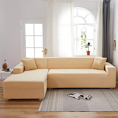 drolpt Massive Farbe Ecksofa Abdeckung für Wohnzimmer Elastische Universal Couch Case Polyester Sofa Slipcover (Color : 12, Size : 3-Seater 190-230cm)