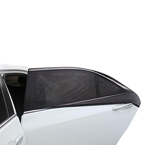 Tasquite 2 parasoles Traseros ventanilla de Coche, Protege a Tus Hijos de Quemaduras solares en la Parte Delantera y Trasera del Coche, Proporciona la máxima protección UV