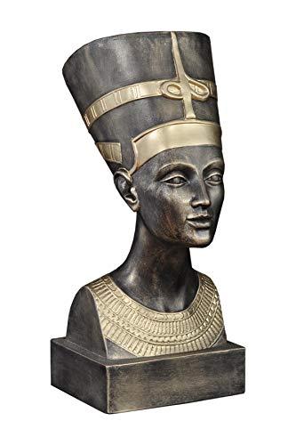 Antikes Wohndesign Nofretete Ägytische Pharaonin Gottheit Ägytische Büste Gold Bronze Optik
