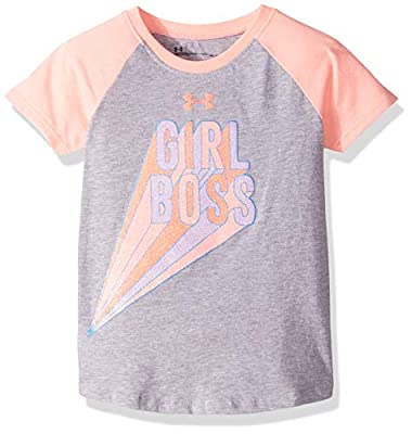 Under Armour Girls' Toddler Raglan Ss Tee Shirt, Moderate Gray-s, 2T