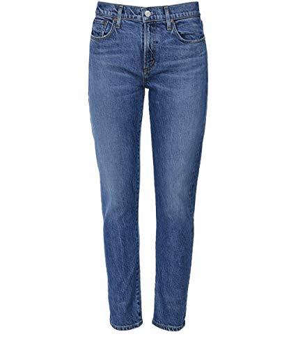 AGOLDE Damen Toni Mitte steigen gerade Bein Jeans Blau 30