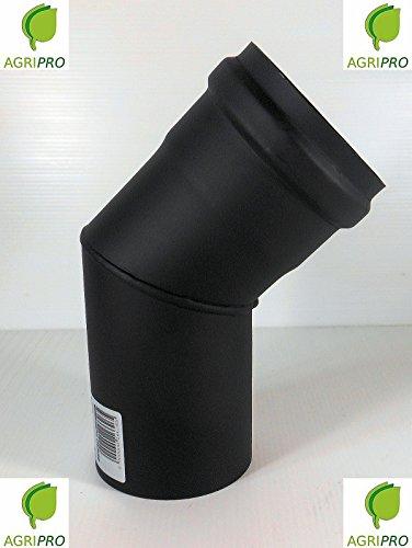 CURVA 45° tubo scarico fumi Diametro 80 per stufa a pellet canna fumaria