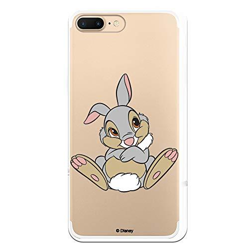 Funda para iPhone 7 Plus - iPhone 8 Plus Oficial de Bambi Tambor Posado para Proteger tu móvil. Carcasa para Apple de Silicona Flexible con Licencia Oficial de Disney.