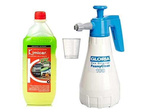 Preisvergleich Produktbild Auto-Reinigungsset Gloria Foamyclean 100 Foamer + Kimicar Kilav Extra Reiniger