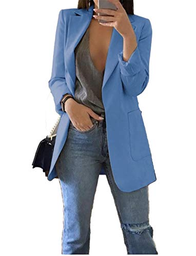 Andongnywell Women's Long Sleeve Solid Blazer Open Front Cardigan Jacket...