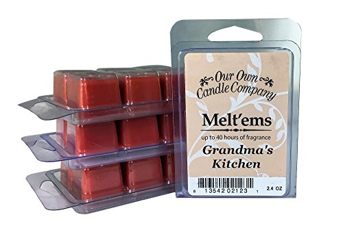 Our Own Candle Company Premium Wax Melt, Grandma's Kitchen, 6 cubes, 2.4 oz (4 Pack)