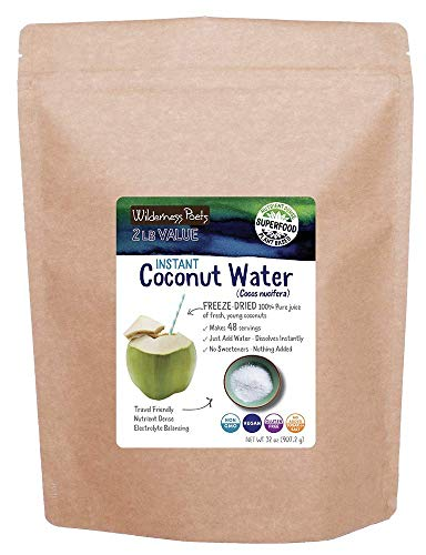 Wilderness Poets Coconut Water Powder - Freeze Dried - Instant Mix (32 Ounce)