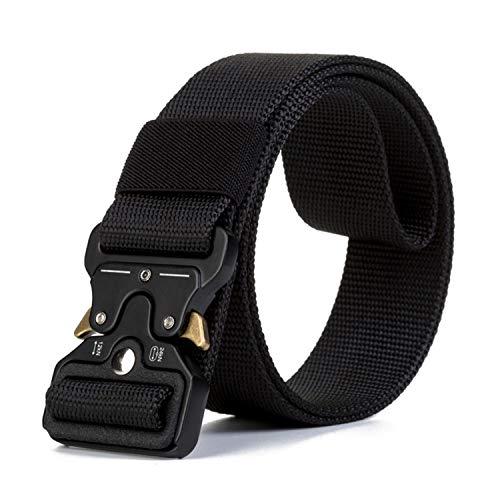 TSWRK Cintura Militare Tattica per Uomo Heavy Tessuto in Nylon Fibbia Cobra Cintura Resistente di Salvataggio per Sport e Caccia All'aria Aperta Cintura Militare