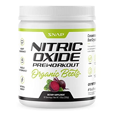 Beet Root Powder Organic Nitric Oxide Booster by Snap Supplements - Blood Flow & Circulation Beets Superfood Support Muscle & Heart Health - BCAA, L Arginine, L Citrulline (5.3 oz)…