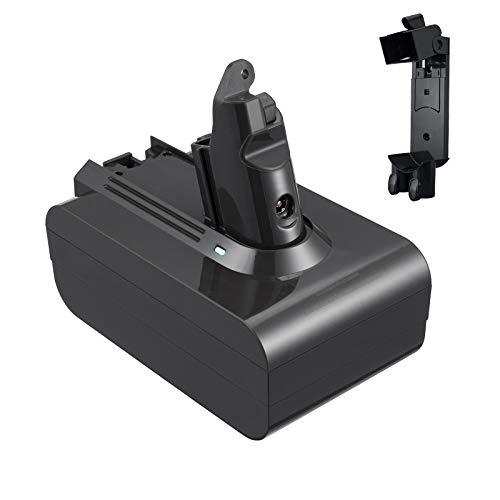 Miady Batería de repuesto de 4600 mAh (tiempo de funcionamiento: 30-60 min) compatible con Dyson V6 SV03 DC58 DC59 DC61 DC62 SV05 SV06 SV07 SV09, con 1 estación de acoplamiento