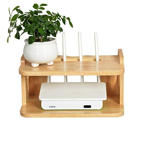 Goede decoratie Effen Hout Draadloze Router Opslag Plank - Creatieve Woonkamer Set-top Box Afwerking Plank WIFI Drijvende Plank