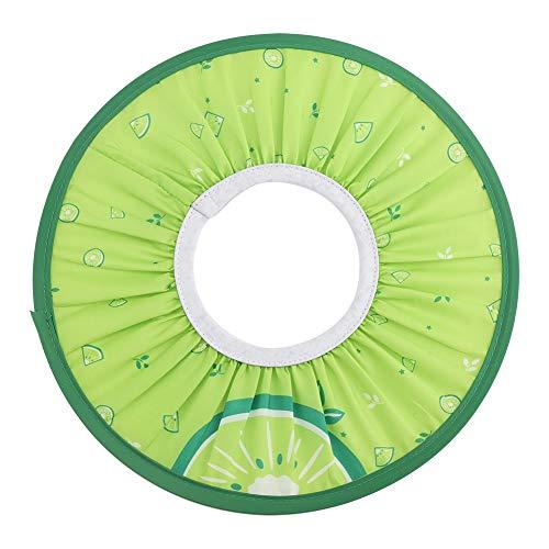 Gorro de Protección Ducha Bañarse de Tela Impermeable para Bebé Niños Cabello Elástico Sombrero (Verde)