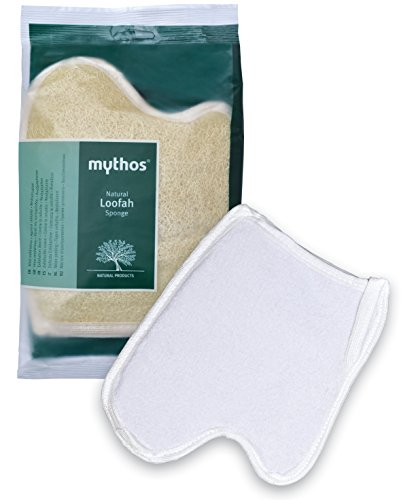MYTHOS VEGETABLE LOOFAH SPONGE IN THE CONFORTABLE SHAPE OF THE PALM