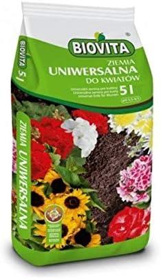 BIOVITA Sustrato universal de 5 litros, multicomponente, tierra para plantas, listo para usar, de origen natural