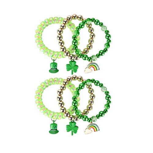 Korliya Good Luck Clover Horseshoe Charm Bead for Bracelet