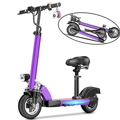 QW elektrische scooter volwassenen, 500W, USB-oplader voor mobiele telefoon, in hoogte verstelbaar, LCD-scherm, vaste snelheid cruise, 50KM lange afstand, 3 snelheid, vouwen E-Scooter met stoel, ondersteunt 200KG gewicht OH