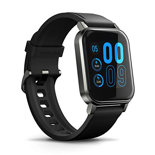 SmartWatch Xiaomi Haylou LS02 Bluetooth 5.0, IP68 Prova d'Água, Monitor de Atividades, Batimento Cardíaco, Qualidade do Sono, Notificação de Aplicativos e Ligações, iOS & Android (Versão Global) –