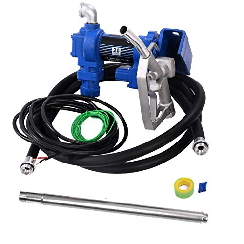 Price comparison product image RUITAPRO 12V Electric Gasoline Fuel Transfer Pump 20GPM High-Flow Diesel Gasoline Kerosene Extractor Pump with Hose and Nozzle Kit