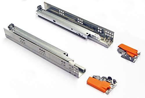 SWEYTEC Vollauszug Soft-Close   Nennlänge: 750 mm   Tandem Blumotion Einzug-Dämpfung   Tragkraft 50 KG   Schubladen-Auszug mit Kupplungen