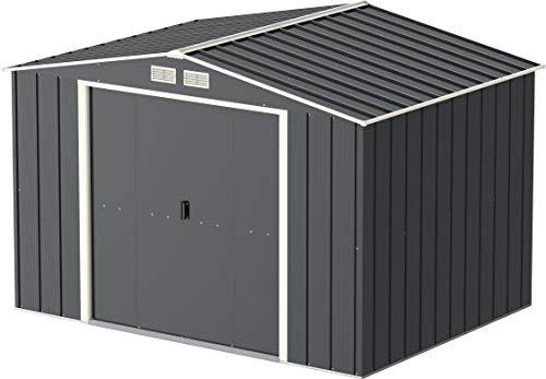 Tepro Duramax Metallgerätehaus Eco 10 x 8, anthrazit/weiß, 322.1 x 242.2 x 196.1 cm, 7261