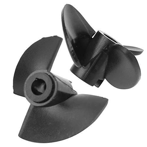 Hélice de 3/2 Palas, 2 Piezas de plástico RC hélice de Control Remoto Modelo de Barco Accesorio de Juguete Adecuado para 30~50 cm/11,8~19,7 Pulgadas Cuerpo de Barco